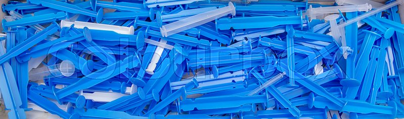 Stock image of 'A lots of the medical and syringes'