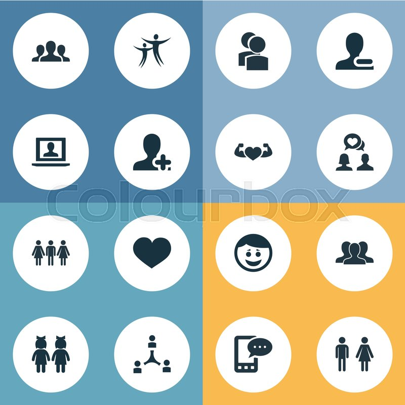 Vector Illustration Set Of Simple     | Stock vector | Colourbox