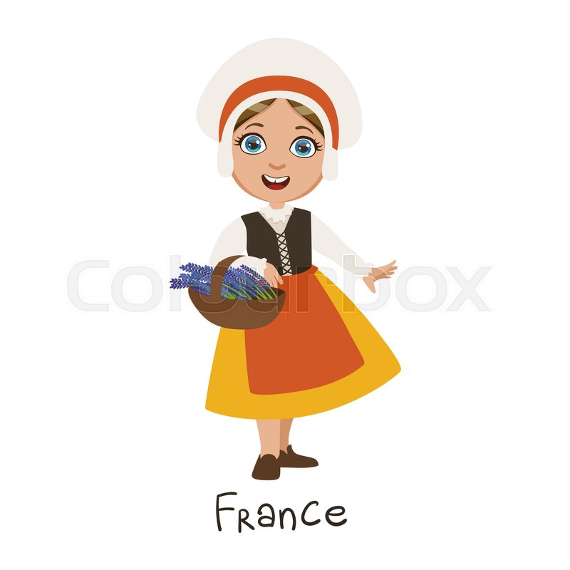 Girl In France Country National ... | Stock Vector | Colourbox