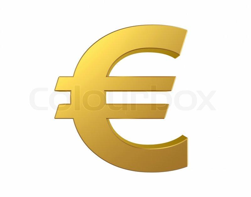 Gold Euro Sign Isolated On White Background Stock Photo Colourbox