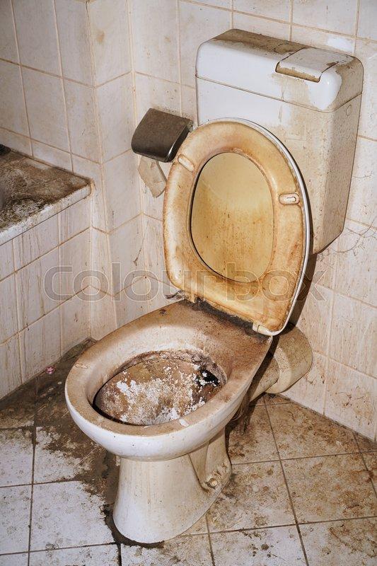 verschmutztes wc in einer verwahrlosten wohnung stockfoto colourbox. Black Bedroom Furniture Sets. Home Design Ideas