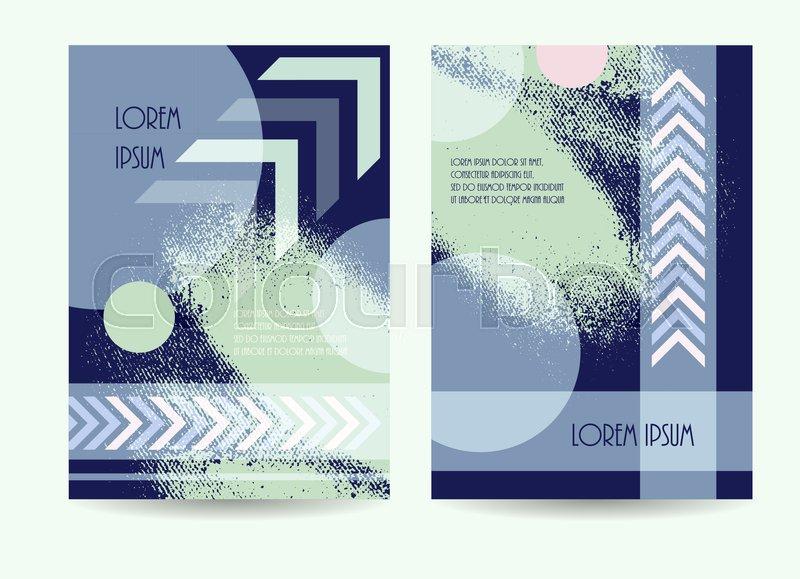 Business Brochure Green Blue Color Design Vector Illustration