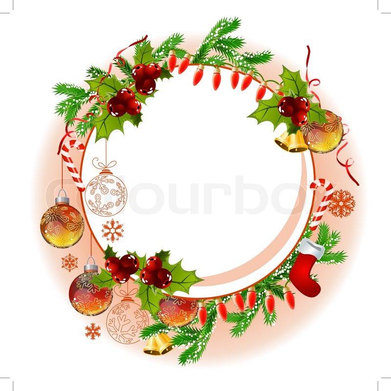 Ziemlich Weihnachten Fotorahmen Ornamente Galerie - Badspiegel ...