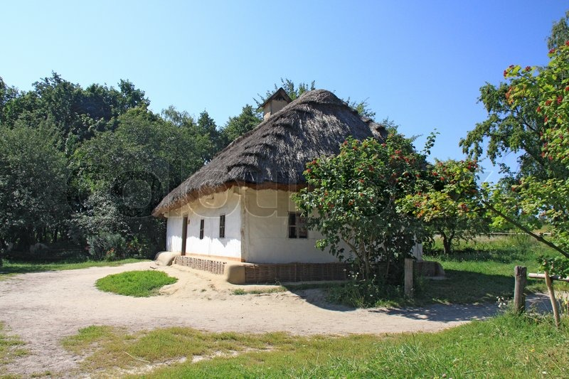 Stock image of 'Old ukrainian house, Pirogovo'
