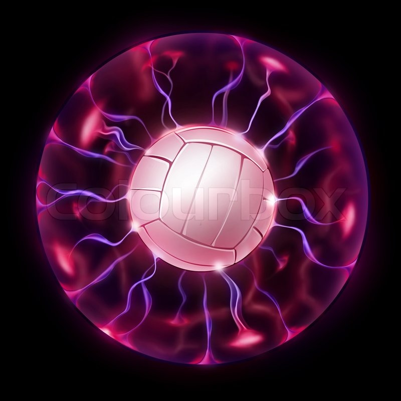 Magic Volleyball Ball Isolated On Black Background