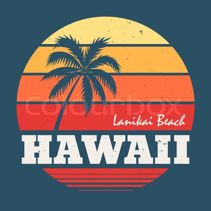38f5a2a1872b Hawaii Lanikai beach tee print with ...