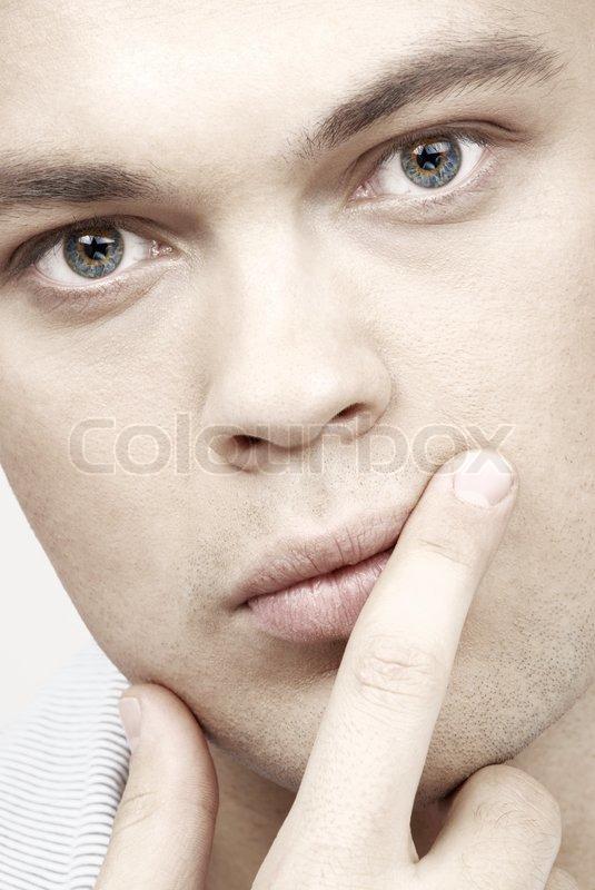 Man Blue Eyes