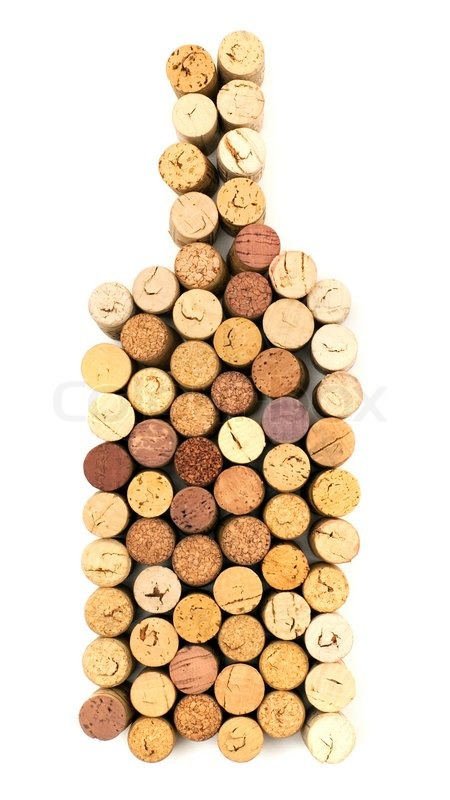 The image of bottle made from wine corks stock photo for Things made from wine bottles
