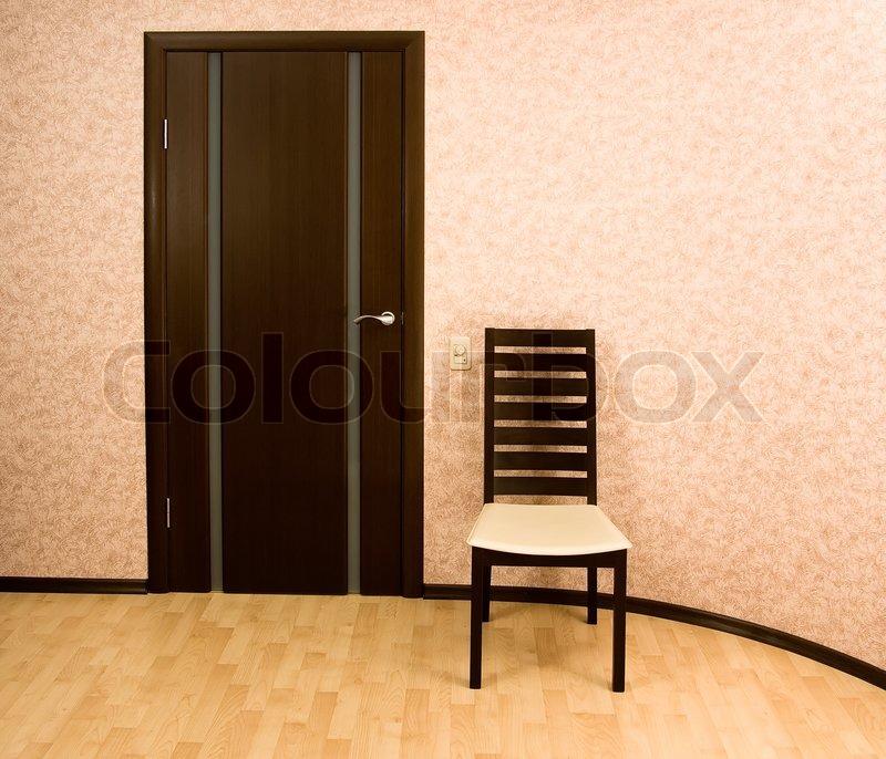 Home interior modern holzstuhl und t r wengefarbe for Holzstuhl modern