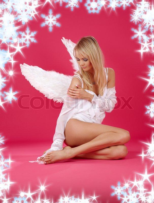 девушка в образе ангела фото картинки стежку выполняют вручную