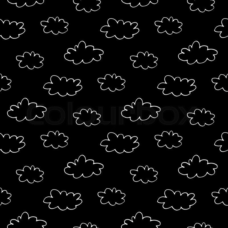 Cartoon Sky Pattern With Hand Drawn Stock Vector Colourbox
