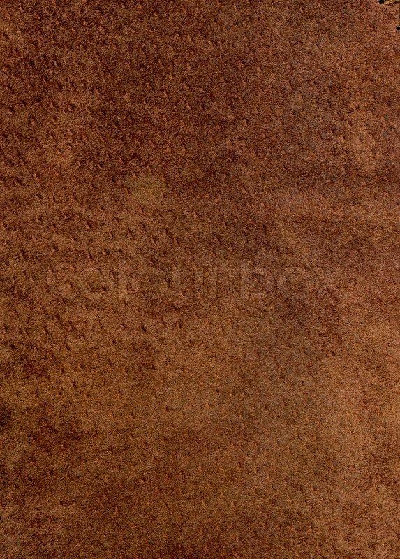 Stock image of 'Close-up of a piece of old brown chamois'