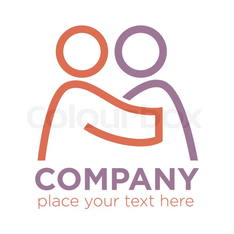 Charity Or Business Insurance Company Label Logo With Space To Place