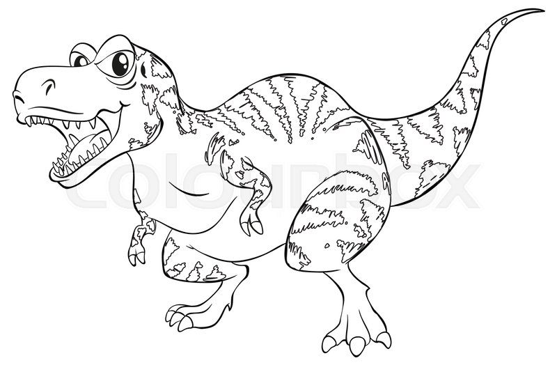 Doodle Animal For T Rex Dinosaur