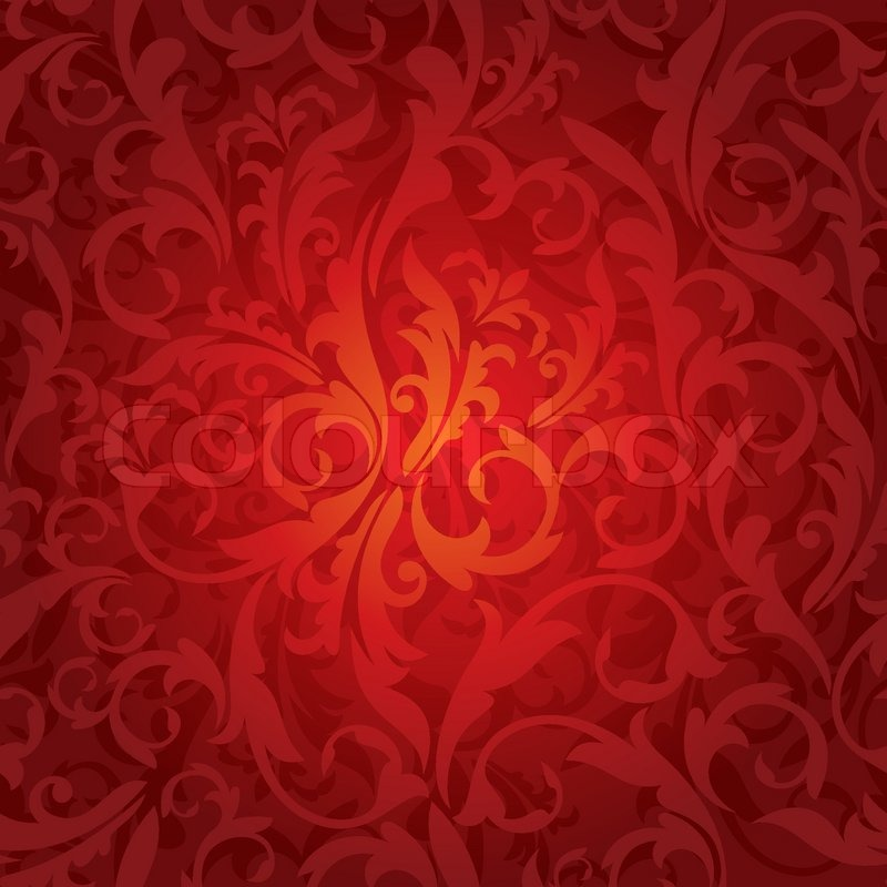 Abstract Seamless Red Floral Stock Vector Colourbox