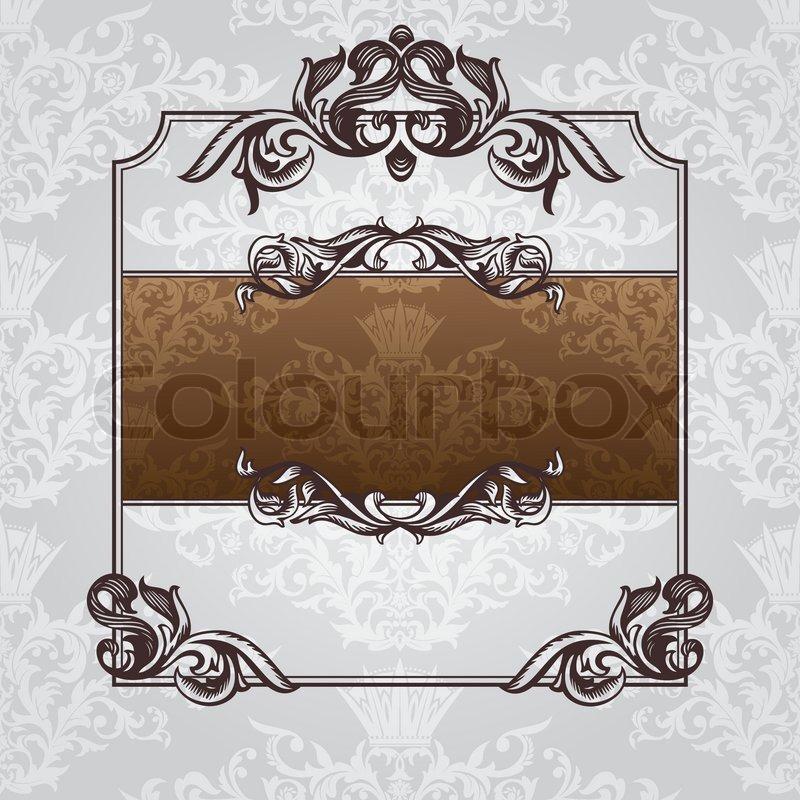 Abstract royal ornate vintage frame vector illustration | Stock ...