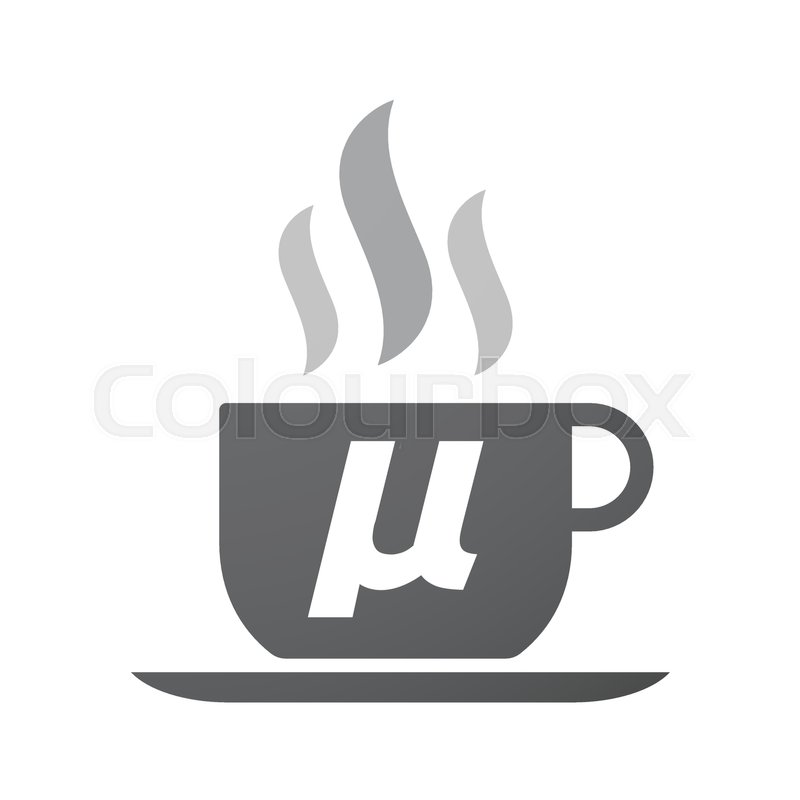 Illustration Of An Isolated Coffee Mug With A Micro Sign Mu Greek