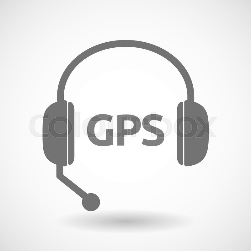 illustration of an isolated hands free headphones with the global