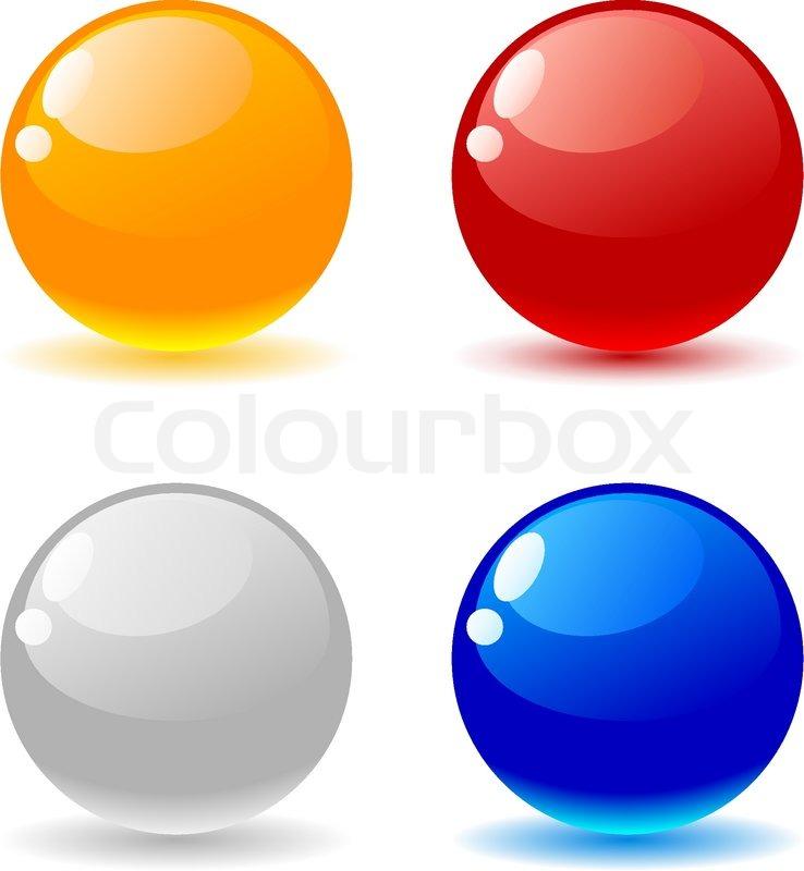 beautiful glossy balls vector illustration stock vector colourbox rh colourbox com vector balloon vector ball