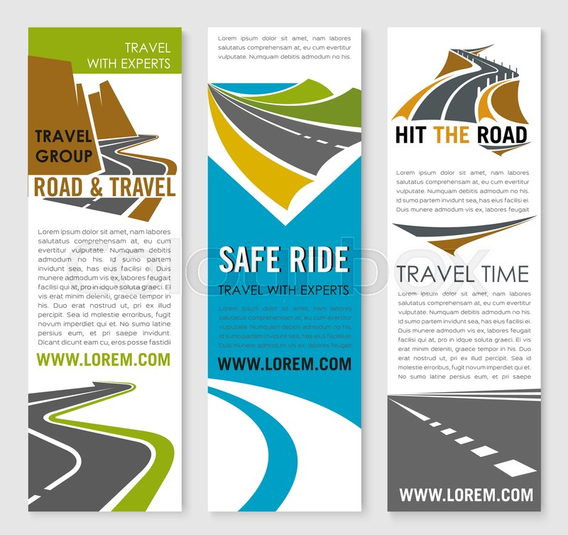 Road Trip And Travel Banner Template Transportation Company Flyer
