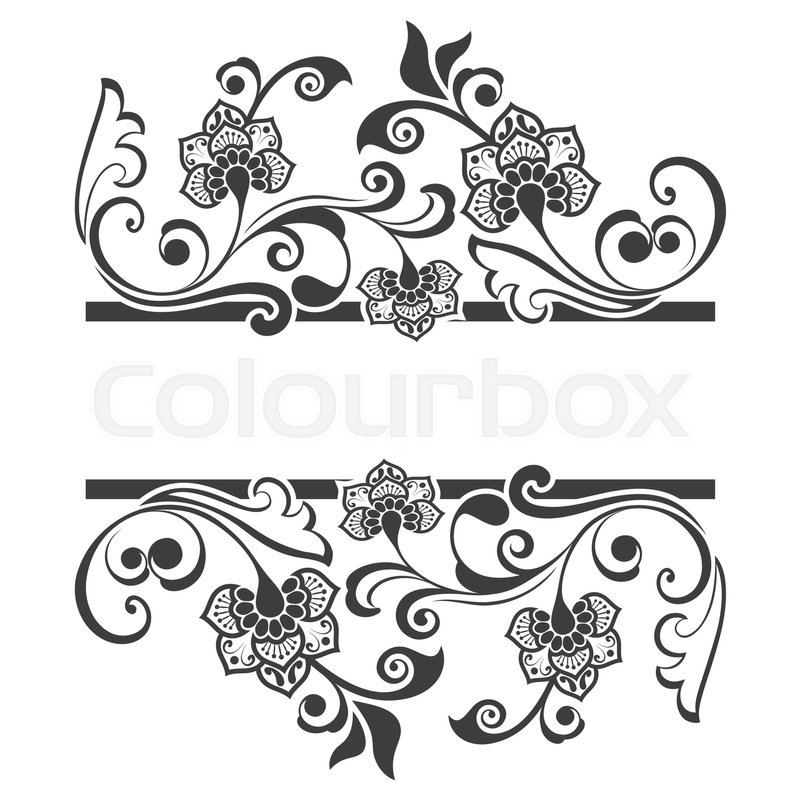 black and white floral title frame with copy space vector background beautiful front page of invitation card or menu template stock vector colourbox