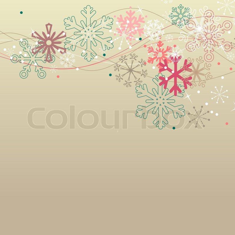 Weihnachten elegante beige Hintergrund mit Schneeflocken ...