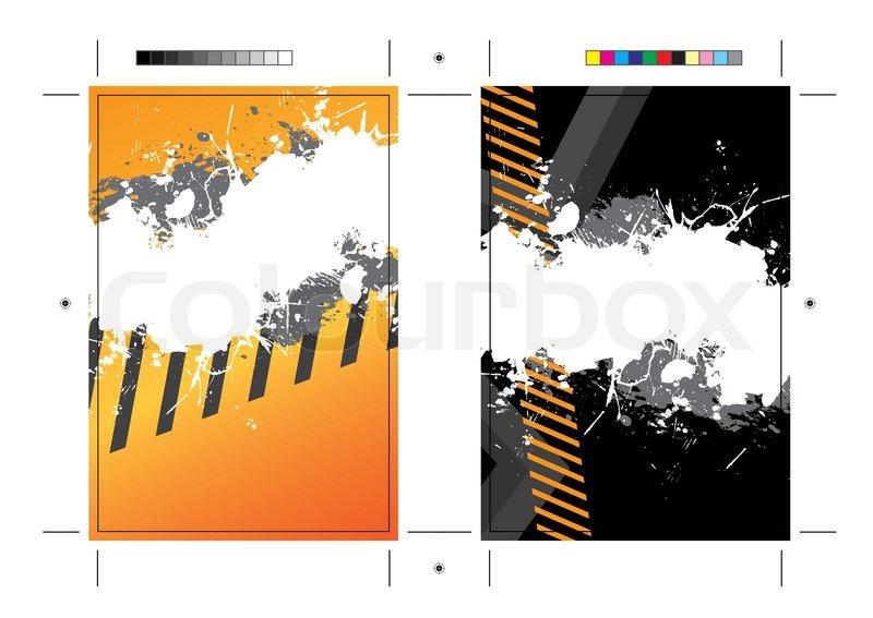 A Hazard Stripes Postcard Or Direct Mailer Design Template