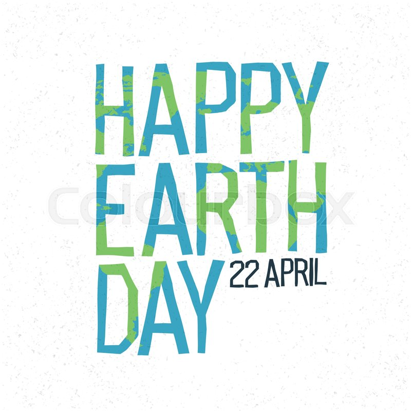 Happy earth day 22 april abstract logo design world map shaqped happy earth day 22 april abstract logo design world map shaqped letters vector gumiabroncs Images