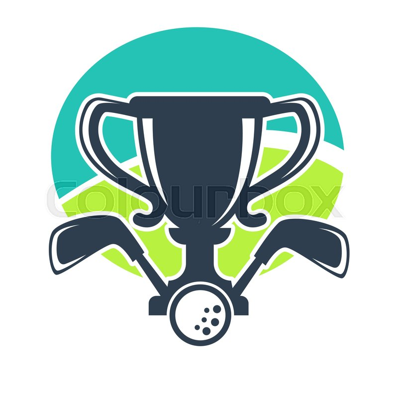 Golf club vector logo template for golfer game award badge. Icons ...