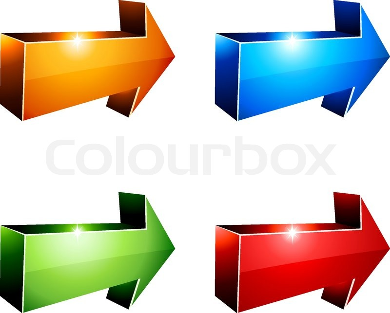 3d vibrant arrows vector illustration stock vector colourbox rh colourbox com 3D Arrow Illustrator 3D Arrow Illustrator