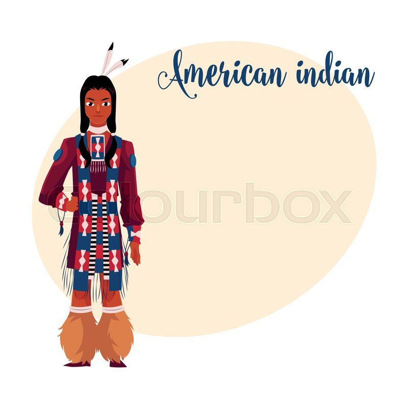 Pleasing Native American Indian Man In Traditional National Clothes Tribal Short Hairstyles For Black Women Fulllsitofus