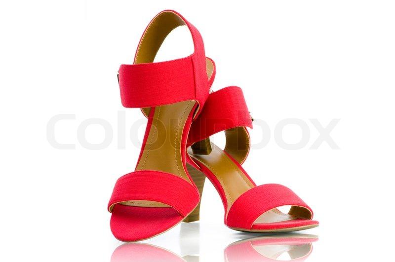 b390892e04e4 Elegant røde sko på den hvide