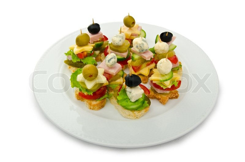 Selection of various canape stock photo colourbox for Canape selection