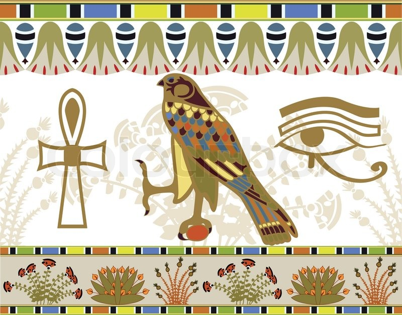 Stock vector of 'Egyptian patterns, borders and symbols illustration for design'