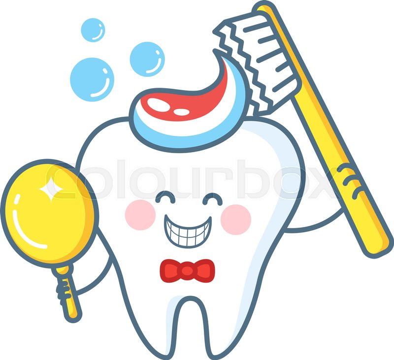cartoon tooth with toothpaste and mirror healthy teeth october clip art for newsletter october clip art pictures