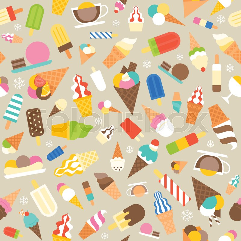 Popular Ice Cream Wallpaper Buy Cheap Ice Cream Wallpaper: Seamless Pattern Ice Cream, Soft Serve And Popsicle For