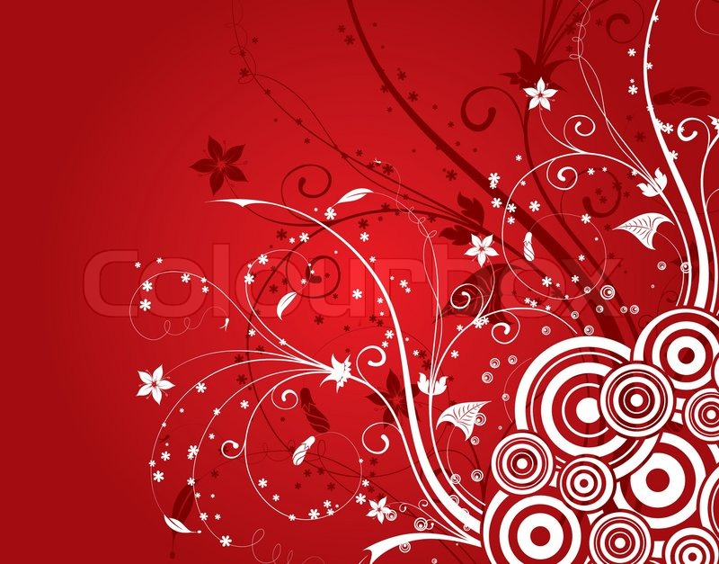 Abstract Flower Background With Circles Element For