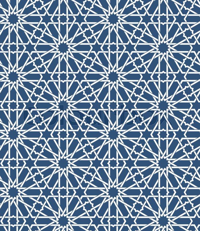 Seamless Islamic Moroccan Pattern Arabic Geometric