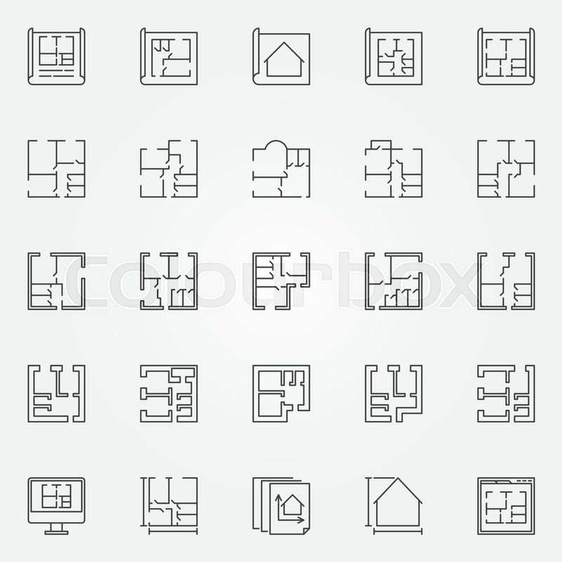 House plans icon set. Vector home and ... | Stock vector ... on construction icons, workshop icons, drafting icons, design icons, land icons, fireplace icons, farm icons, architecture icons, drawing icons, head icons, study icons, foundation icons, room icons, builder icons, remodeling icons, human icons, london icons, housing icons, household icons, architectural icons,