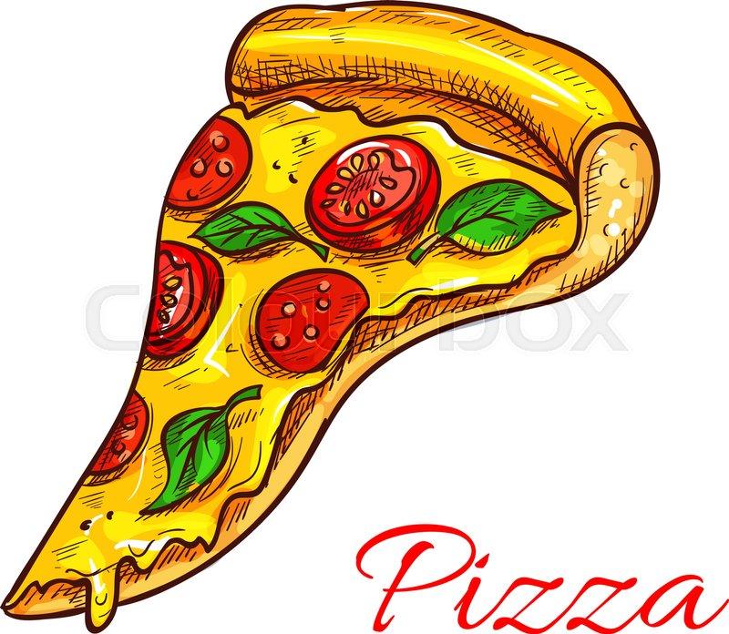 pizza slice vector icon of fast food or italian pizzeria cuisine rh colourbox com pizza slice vector free download pizza slice vector image free