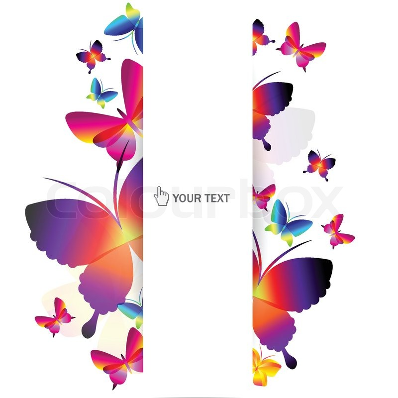 Colorful Butterfly Background Stock Vector Colourbox