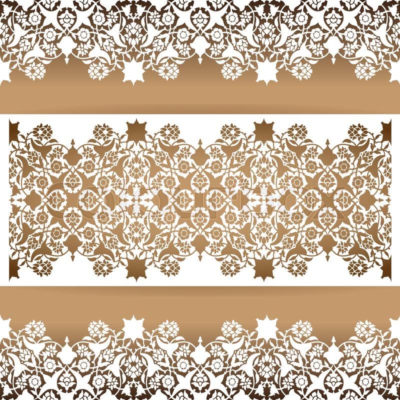 laser cut floral arabesque ornament pattern vector template cutting