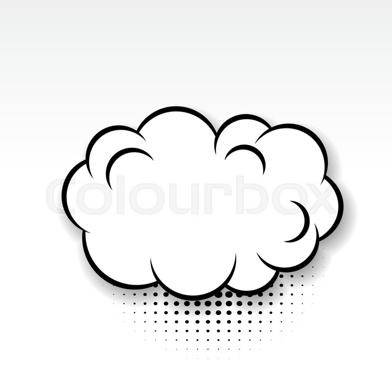 white cloud blank template comics book burst balloon bubble icon
