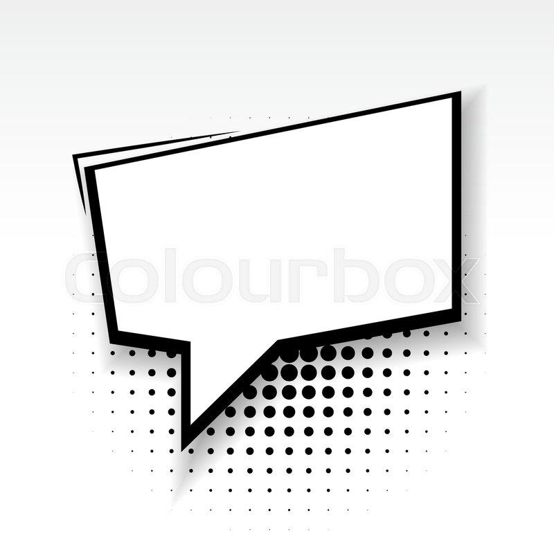 white blank square template comics book burst balloon bubble icon