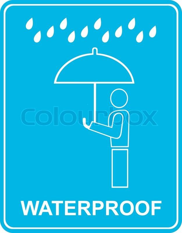 Wasser- Widerstand, wasserdicht - stilisierte Zeichen , Piktogramm ...