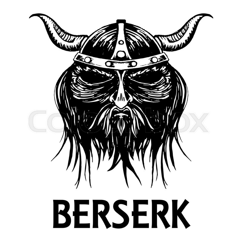 Berserk Or Berserker Warrior Head Or Mask Ancient Mythology Norse