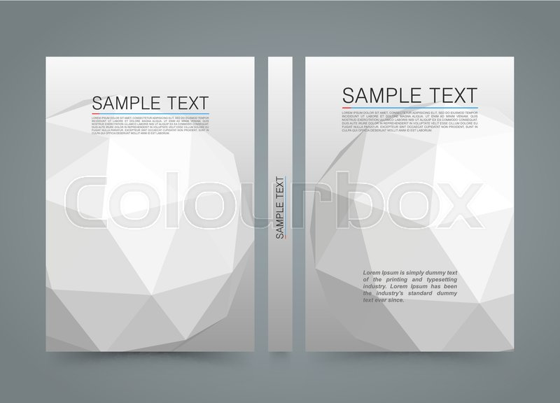 Polygon cover. banner 3d sphere book. A4 size paper, Template design ...