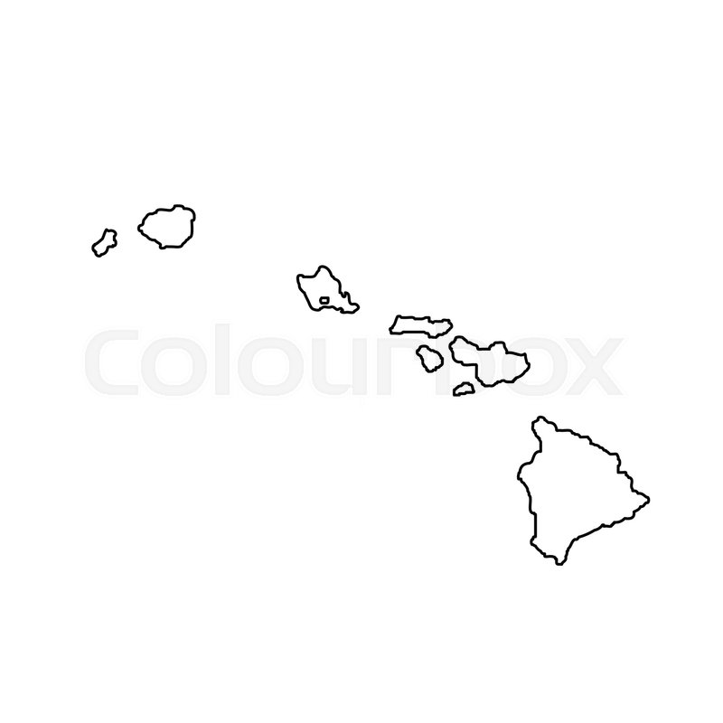 Map of the U.S. state Hawaii. Vector ...   Stock vector ...