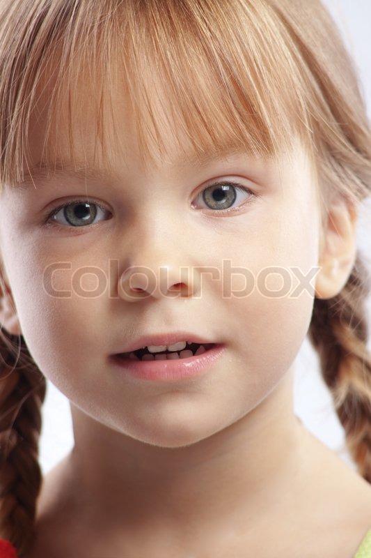 Young Girl Models Nn: Portrait Of Funny Lovely Little Girl