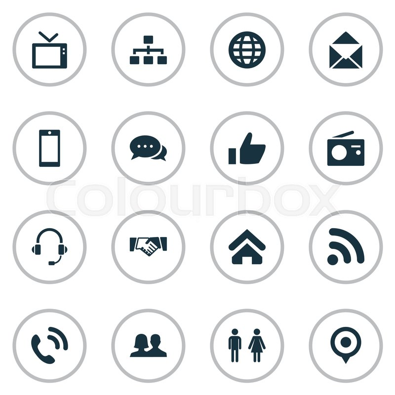 Vector illustration set of simple transmission icons elements stock vector of vector illustration set of simple transmission icons elements smartphone pin platinumwayz